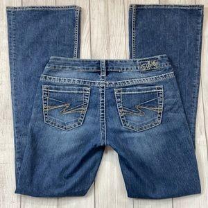 Silver Jeans Aiko Bootcut Low Rise Indigo Wash 29L